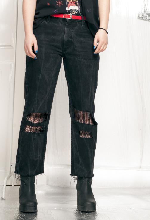 Lee Jeans 90s Vintage Grunge Denim W Frayed Hem