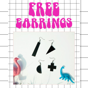 Free recycled vinyl earrings